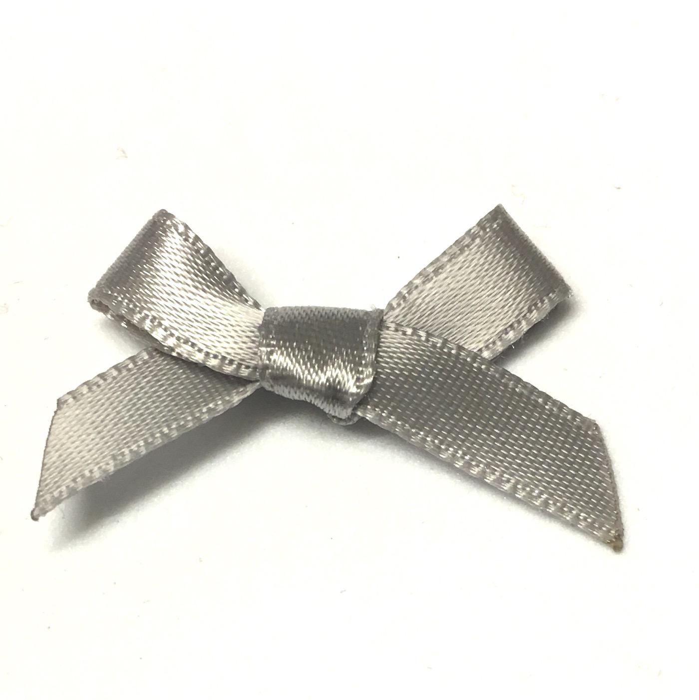 20 x 7mm satin ribbon bows silver/grey - The Button Shed  20 x 7mm satin ...